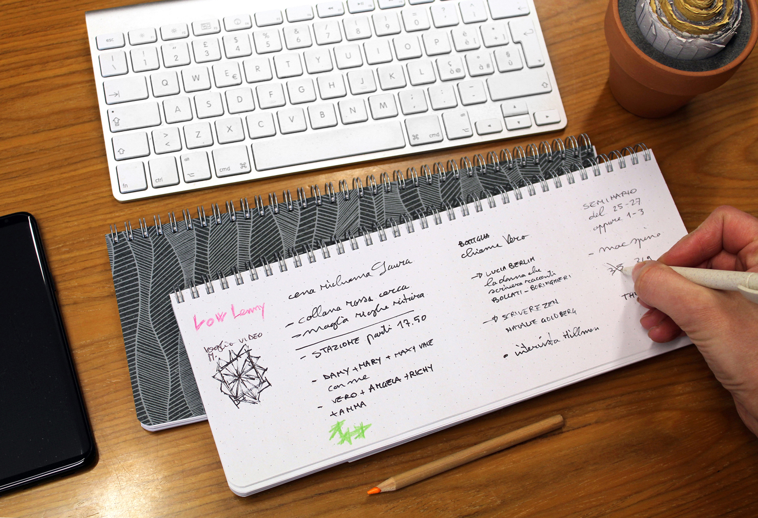 eco keyboard notepad Arbos